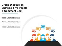 Group Discussion Showing Five People And Comment Box