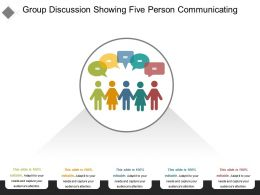 Group Discussion Showing Five Person Communicating