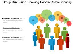 Group Discussion Showing People Communicating
