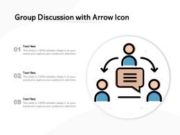 Group Discussion With Arrow Icon