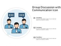 Group Discussion With Communication Icon