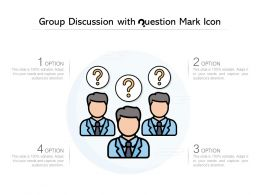 Group Discussion With Question Mark Icon