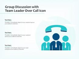 Group Discussion With Team Leader Over Call Icon