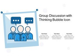 Group Discussion With Thinking Bubble Icon