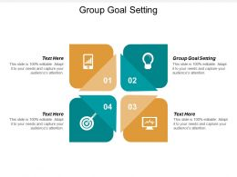 Group Goal Setting Ppt Powerpoint Presentation Professional Inspiration Cpb