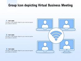 Group Icon Depicting Virtual Business Meeting