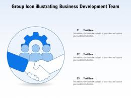 Group Icon Illustrating Business Development Team