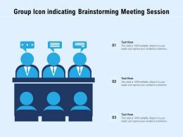 Group Icon Indicating Brainstorming Meeting Session