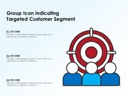 Group Icon Indicating Targeted Customer Segment