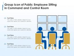 Group Icon Of Public Employee Sitting In Command And Control Room