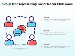 Group Icon Representing Social Media Chat Room