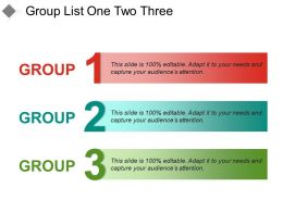 Group List One Two Three