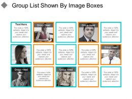 Group List Shown By Image Boxes