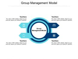 Group Management Model Ppt Powerpoint Presentation Styles Layout Cpb