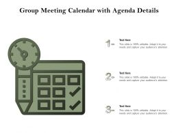 Group Meeting Calendar With Agenda Details