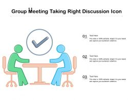 Group Meeting Taking Right Discussion Icon