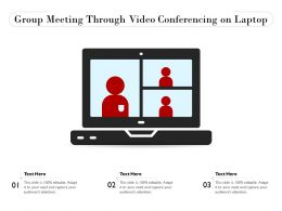 Group Meeting Through Video Conferencing On Laptop