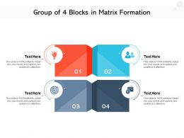 Group Of 4 Blocks In Matrix Formation