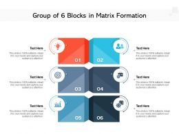 Group Of 6 Blocks In Matrix Formation