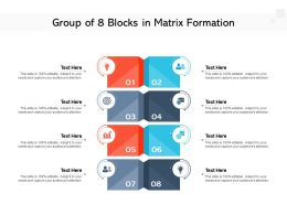 Group Of 8 Blocks In Matrix Formation