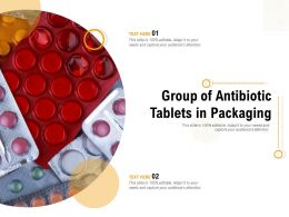 Group Of Antibiotic Tablets In Packaging