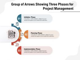 Group Of Arrows Showing Three Phases For Project Management