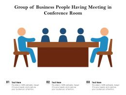 Group Of Business People Having Meeting In Conference Room