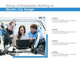Group Of Employees Working On Electric Car Design
