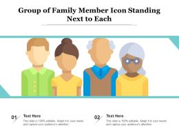 Group Of Family Member Icon Standing Next To Each