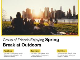 Group Of Friends Enjoying Spring Break At Outdoors