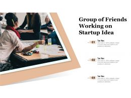 Group Of Friends Working On Startup Idea