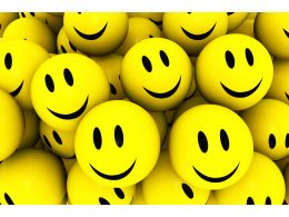 Group Of Happy Yellow Smiley Icons Stock Photo