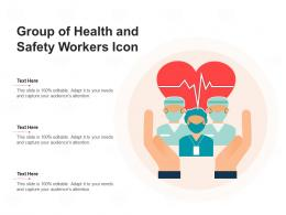 Group Of Health And Safety Workers Icon