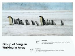 Group Of Penguin Walking In Array