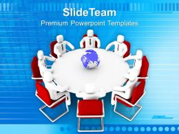Group Of People Around Globe Powerpoint Templates Ppt Backgrounds For Slides 0213
