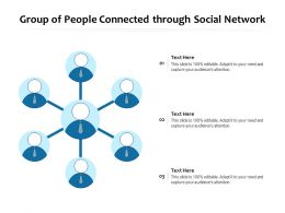 Group Of People Connected Through Social Network