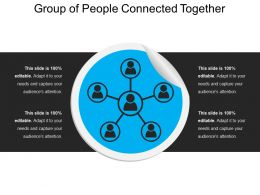 Group Of People Connected Together