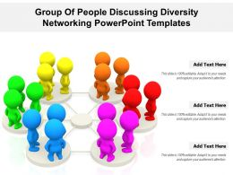 Group Of People Discussing Diversity Networking Powerpoint Templates