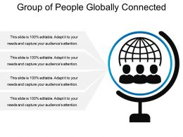Group Of People Globally Connected