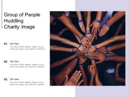 Group Of People Huddling Charity Image