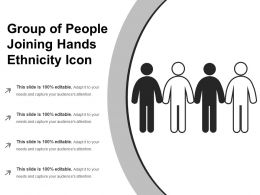 Group Of People Joining Hands Ethnicity Icon