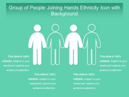 Group Of People Joining Hands Ethnicity Icon With Background