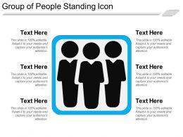 Group Of People Standing Icon