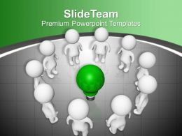 Group Of People Standing Idea Communication Powerpoint Templates Ppt Themes And Graphics 0113