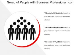 Group Of People With Business Professional Icon