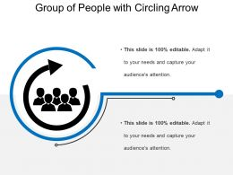 Group Of People With Circling Arrow