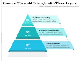 Group Of Pyramid Triangle With Three Layers