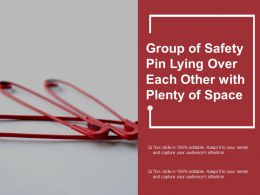 Group Of Safety Pin Lying Over Each Other With Plenty Of Space