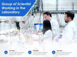 Group Of Scientist Working In The Laboratory
