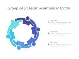 Group Of Six Team Members In Circle
